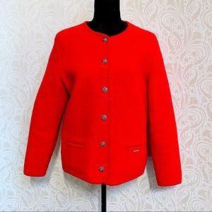 🎄Vintage Geiger wool button up red blazer/jacket